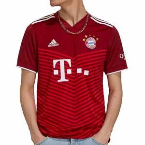 Camiseta adidas Bayern 2021 2022 - Camiseta primera equipación adidas Bayern de Munich 2021 2022 - granate