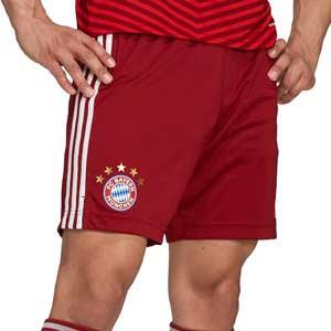 Short adidas Bayern 2021 2022 - Pantalón corto primera equipación adidas Bayern de Munich 2021 2022 - granate