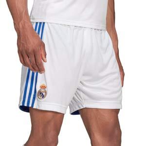 Short adidas Real Madrid 2021 2022 - Pantalón corto primera equipación adidas Real Madrid CF 2021 2022 - blanco - completa frontal