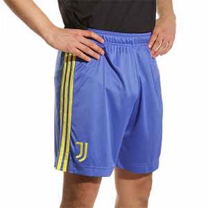 Short adidas Juventus 3a 2021 2022 - Pantalón corto tercera equipación adidas de la Juventus 2021 2022 - azul