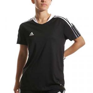 Camiseta adidas Tiro 21 mujer - Camiseta de manga corta de mujer adidas - negra - miniatura