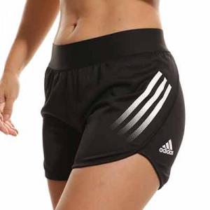Short adidas niña Aeroready 3 Stripes - Pantalón corto infantil para niña adidas - negro