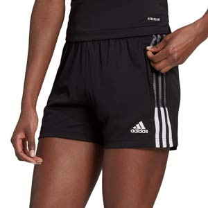 Short adidas Tiro 21 mujer - Pantalón corto de fútbol para mujer adidas - negro