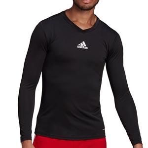 Camiseta compresiva M/L adidas Team - Camiseta entrenamiento compresiva manga larga adidas - negra