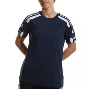 Camiseta adidas Squadra 21 mujer - Camiseta de manga corta de mujer adidas - azul marino - miniatura