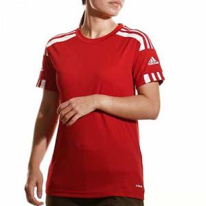 Camiseta adidas Squadra 21 mujer - Camiseta de manga corta de mujer adidas - roja - completa frontal