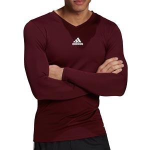 Camiseta adidas Team - Camiseta entrenamiento compresiva manga larga adidas Team - roja