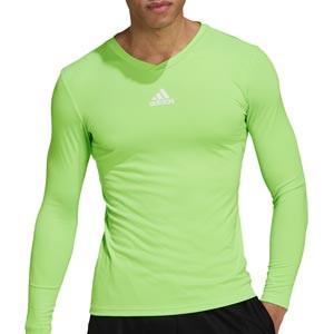 Camiseta adidas Team - Camiseta entrenamiento compresiva manga larga adidas Team - verde