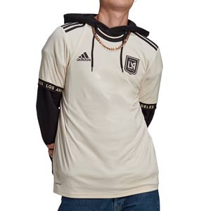 Camiseta adidas 2a Los Angeles FC 2021 - Camiseta segunda equipación adidas de Los Angeles Football Club 2021 - beige - frontal