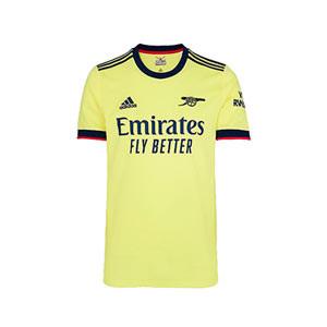 Camiseta adidas 2a Arsenal niño 2021 2022 - Camiseta segunda equipación infantil adidas del Arsenal FC 2021 2022 - amarilla pastel - frontal