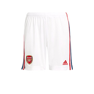 Short adidas Arsenal niño 2021 2022 - Short infantil primera equipación adidas Arsenal FC 2021 2022 - blanco