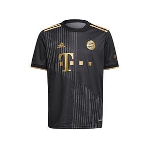 Camiseta adidas 2a Bayern niño 2021 2022 - Camiseta infantil segunda equipación adidas del Bayern de Múnich 2021 2022 - negra - frontal