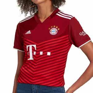Camiseta adidas Bayern mujer 2021 2022 - Camiseta de mujer de la primera equipación adidas Bayern de Munich 2021 2022 - granates