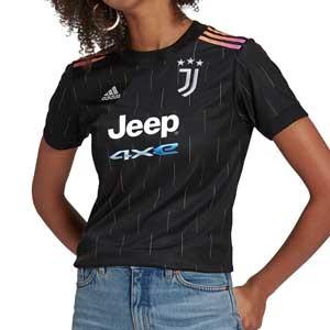 Camiseta adidas 2a Juventus mujer 2021 2022 - Camiseta de mujer adidas segunda equipación Juventus 2021 2022 - negra