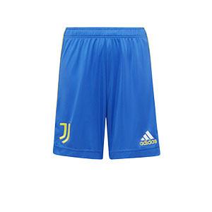 Short adidas 3a Juventus niño 2021 2022 - Pantalón corto infantil tercera equipación adidas de la Juventus 2021 2022 - azul