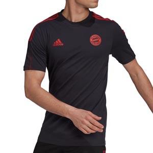 Camiseta algodón adidas Bayern entrenamiento - Camiseta manga corta de algodón entrenamiento adidas del Bayern de Múnich - gris oscuro