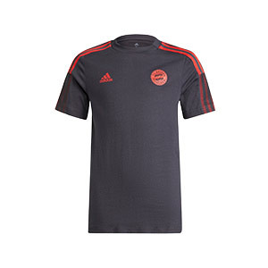 Camiseta adidas Bayern niño entrenamiento  - Camiseta infantil de algodón de entrenamiento adidas del Bayern de Múnich - gris oscuro