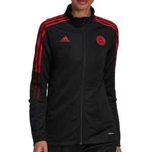 Chaqueta adidas Bayern mujer - Chaqueta de chándal adidas del Bayern de Múnich - negra