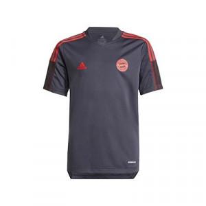 Camiseta adidas Bayern entreno niño 2021 2022 - Camiseta de entrenamiento infantil adidas del Bayern de Múnich 2021 2022 - gris - frontal