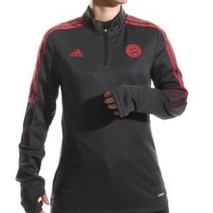 Sudadera adidas Bayern mujer entrenamiento - Sudadera de entrenamiento para mujer adidas del Bayern de Múnich - negra - completa frontal