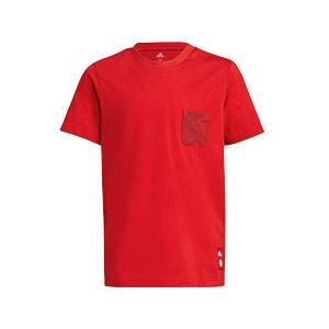 Camiseta adidas Bayern niño - Camiseta de manga corta de algodón infantil adidas del Bayern de Múnich - roja