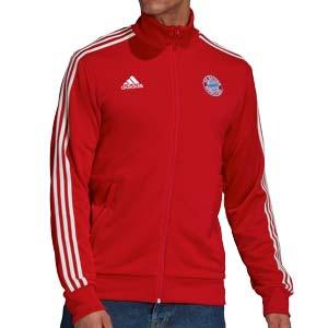 Chaqueta adidas Bayern 3 Stripes - Chaqueta chándal de paseo adidas del Bayern de Múnich - roja