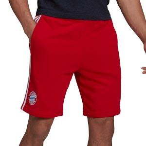 Short adidas Bayern 3 Stripes - Pantalón corto de paseo de algodón adidas del Bayern de Múnich - rojo
