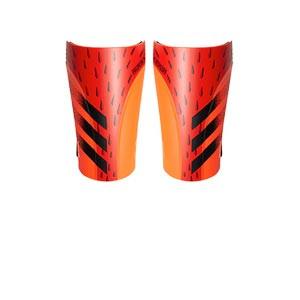 adidas Predator Training - Espinilleras de fútbol adidas con cintas de velcro - rojas