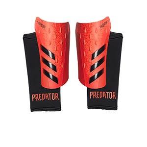 adidas Predator League - Espinilleras de fútbol adidas con mallas de sujeción - rojas