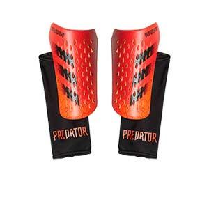 adidas Predator Competition - Espinilleras de fútbol adidas con mallas de sujeción - rojas
