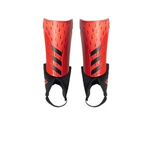 adidas Predator Match J - Espinilleras de fútbol infantiles adidas con tobillera protectora - rojas