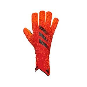 adidas Predator Pro - Guantes de portero profesionales adidas corte negativo - rojos