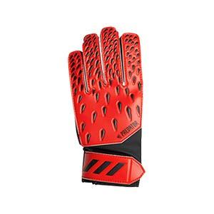 adidas Predator Training J - Guantes de portero infantiles adidas corte positivo - rojos