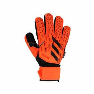 adidas Predator Match FingerSave J - Guantes de portero infantiles con protecciones adidas corte positivo - rojos