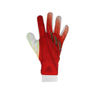 adidas X Pro J - Guantes de portero profesionales para niño adidas corte negativo - naranjas y rojos
