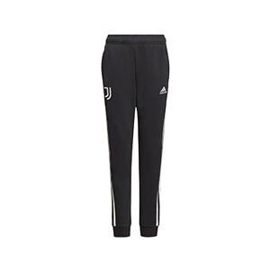 Pantalón adidas Juventus niño - Pantalón largo de paseo de algodón infantil adidas de la Juventus - negro