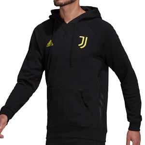 Sudadera adidas Juventus Travel Hoodie - Sudadera de algodón con capucha de paseo adidas de la Juventus - negra