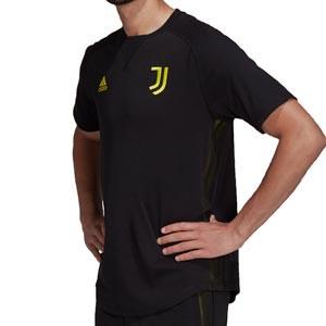 Camiseta adidas Juventus Travel - Camiseta de manga corta de algodón adidas de la Juventus - negra
