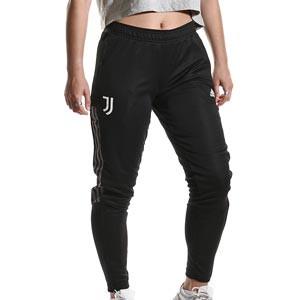Pantalón adidas Juventus mujer entrenamiento - Pantalón largo de entrenamiento para mujer adidas de la Juventus - negro - completa frontal