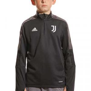 Sudadera adidas Juventus niño entrenamiento - Sudadera de entrenamiento para entrenadores infantil adidas de la Juventus - gris - frontal