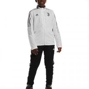Chándal adidas Juventus niño entrenamiento - Chándal infantil 7-14 años entrenamiento adidas de la Juventus - blanco y negro - frontal
