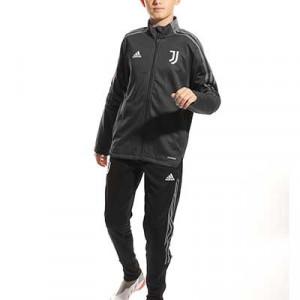 Chándal adidas Juventus niño entrenamiento - Chándal infantil 7-14 años entrenamiento adidas de la Juventus - gris oscuro