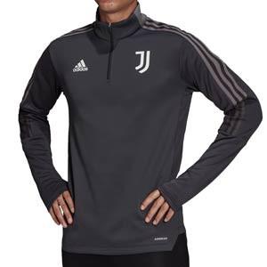 Sudadera adidas Juventus Warm entrenamiento - Sudadera de entrenamiento de invierno para entrenadores adidas de la Juventus - gris - frontal