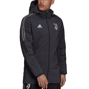 Chaqueta adidas Juventus Winter - Abrigo de invierno acolchado adidas de la Juventus - gris oscuro