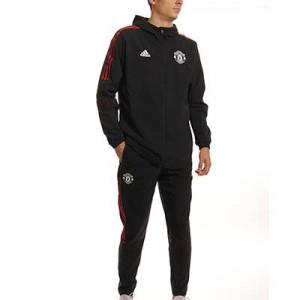 Chándal adidas Manchester United Presentación - Chándal de paseo adidas del Manchester United - negro