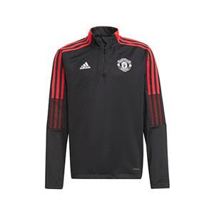 Sudadera adidas United niño entrenamiento - Sudadera de entrenamiento infantil adidas del Manchester United - negra