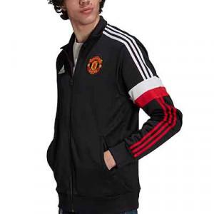 Chaqueta adidas United 3 Stripes - Chaqueta chándal adidas del Manchester United - negra