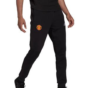 Pantalón adidas United Travel - Pantalón largo de algodón adidas del Manchester United - negro