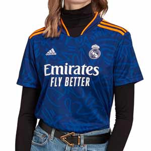 Camiseta adidas Real Madrid 2a mujer 2021 2022 - Camiseta segunda equipación de mujer adidas Real Madrid CF 2021 2022 - azul