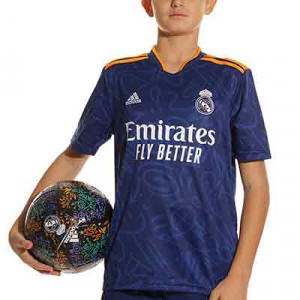 Camiseta adidas Real Madrid 2a niño 2021 2022 - Camiseta segunda equipación infantil adidas Real Madrid CF 2021 2022 - azul